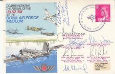 RAF C51c Cover arrival JU52 Signed 6 & P G H Matthews 1 Sqn Pilot Battle of Brit