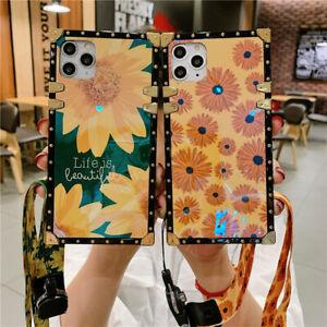 Luxury Sunflower Daisy Flower Phone Case For Samsung S9 S10 S20 FE S21 Note 20