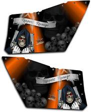 Polaris RZR OEM Door Graphics Kit 570 800 900 Decal Reaper Revenge Orange