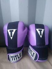 Title Boxing Gel World Bag Adult Boxing Gloves Purple Size: M (read desc. Pls!)
