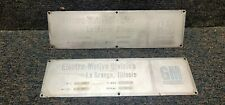 EMD Builders Plates from SD50 (MoPac #5017) MATCHED PAIR!!!!
