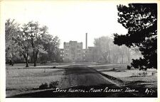 Mount Pleasant IA State Hospital RPPC Real Photo Postcard
