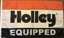 Holley Equipped Flag 3x5 Auto Parts Banner Car Wall Garage Man Cave