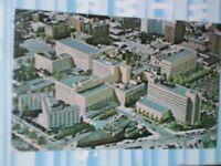 VINTAGE AIR VIEW POST CARD SWEDISH HOSIPTAL MEDICAL CENTER SEATTLE WASHINGTON