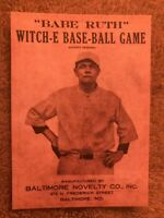 Babe Ruth Witch-E Base-Ball Game Facsimile Autograph