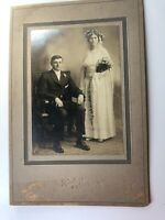 Vtg Mauch Chunk PA Rinker's Studio Early 1900's Wedding Couple Mounted Photo