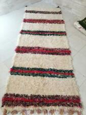 Woven rug, Moroccan runner rug, rag rug, area rug Morocco, striped carpet