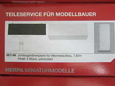 Herpa 081146 Change rideaux JUMBO PLANE 7,82m 1:87 H0 Neuf Emballage d'origine