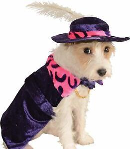 Rubies Mac Daddy Pimp Purple Hat Cape Halloween Pet Dog Cat Costume Small NEW
