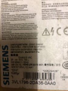 1 Off Siemens 3VL1796-2DA36-0AA0 3 Pole  VL160 MCCB