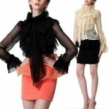 Chiffon Tops & Shirts Size Plus for Women with Ruffle