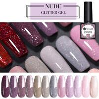 UR SUGAR 12 Bottles 7.5ml Nail UV Gel Polish Nude Glitter UV Gel Nail Art Kit