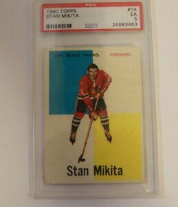 1960 Topps Hockey Stan Mikita Rookie RC #14 PSA 5