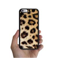 iPhone 8 7 6 6s Plus SE 5c 5s 5 4s 4 Rubber Case Leopard Fur For Girls Apple