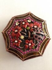 Royal Gem Collection Bejeweled Lady Bug & Flower Trinket Box - New in Box!