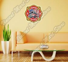 Firefighter Fire Department Volunteer Truck Wall Sticker Room Interior Decor 22""