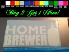 Home brewer WHITE Sticker decal Car window beer homemade drinking beer pong ale