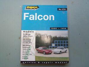 FORD FALCON EL XH SERIES WORKSHOP MANUAL 1996/1998 LONG REACH XR6 UTILITY VAN