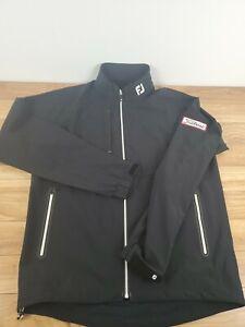 Footjoy DryJoys Tour LTS Men's Jacket Black White - Titleist patch Sz Medium