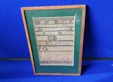 18th Century Linen Sampler Dated 1783 Elizabeth Finnemore - Aged 10