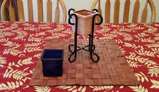 Wrought iron candle holder stand with 2 interchangeable candle holders
