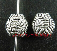 50pcs Tibetan Silver Fancy Craft Spacers 10x10x6mm ZN28679 12099
