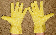 Yellow Floral Garden Gloves - One Size Fits Most