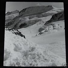 Glass Magic Lantern Slide THE SOURCE OF THE ALETSCH GLACIER THE BERNESE OBERLAND