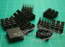 Black 50pc x 14*14*7mm mini Aluminum HeatSink Chip for IC LED Power Transistor
