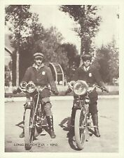 "LONG BEACH POLICE DEPT 1912 INDIAN MOTORCYCLE 2 Riders Photo Print #1428 11""x14"""