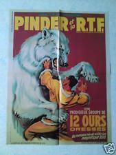 Affiche collection cirque Pinder 12 ours dressés