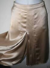 VALENTINO $2290 Beige Satin Skirt Shorts NEW sz 12  46