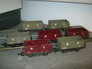 7 Triang OO Gauge R112 NE Drop Door 12 Ton Wagons