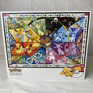 Buffalo Games Pokemon - Eevee's Stained Glass - 2000 Piece Jigsaw Puzzle
