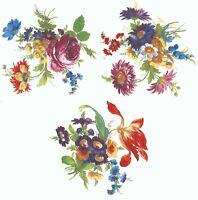 """2 Meissen Wild Flower 6-3//4/""""  Waterslide Ceramic Decals 272 Bx"""