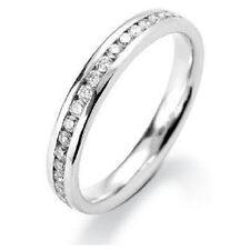 2.00 mm 0.25 Carat  Round Diamond Channel set Half Eternity Ring Platinum.