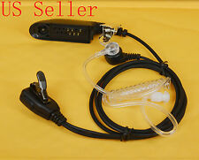 Acoustic Tube Headset/Ear Piece with Microphone for Motorola 2 Way Radio GP328