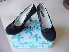 Black Suede High Heel Classic Pump dress shoes Size 8  Splash Fashion