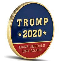 Donald Trump 2020 Make Liberals Cry Again Commemorative Challenge Coin
