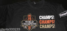 San Francisco SF Giants 2014 World Series Champs BK T-Shirt XL SGA  NEW