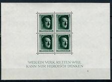 GERMANY 1937. REICH  HITLER BLOCK Mi.#7 MINT FULL ORIGINAL GUM LIGHT HINGED