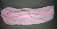 POTTERY BARN  BASKET LINER   PINK WHITE CHECKERED