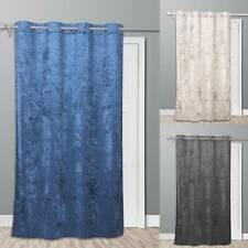 Door Curtain Thermal Self Lined Crush Winter Prevents Heat Loss Reduces Draughts