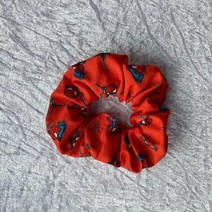 Handmade Spider Man Marvel Avenger Alternative Scrunchie Hair Tie Bobble Elastic
