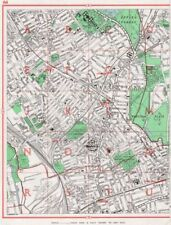 LEYTON. Leytonstone Forest Gate Wanstead Flats Maryland Epping Forest 1964 map