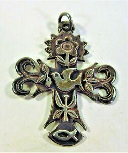 James Avery Sterling Silver Primavera Cross Pendant 9.07g