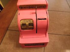 Vintage Working UNCLE SAM'S METAL 3-COIN REGISTER BANK by Durable Toy Corp ,PINK