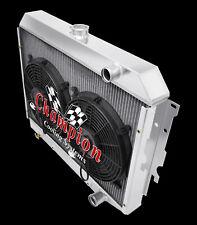 "3 Row Rel Champion Radiator,2 12"" Fans - 1968 - 1973 Plymouth Satellite Hemi Eng"