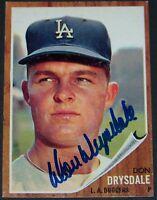 AMAZING! 1962 Topps Don Drysdale Signed Autographed Baseball Card JSA AH LOA!