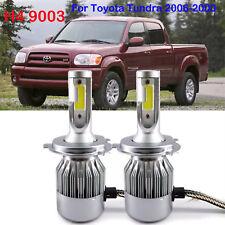 H4 9003 LED Headlight Conversion Kit Bulbs For Toyota Tundra 2006-2000 6000K